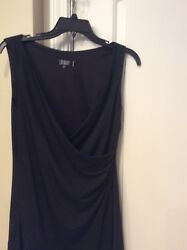 laundry Black Cocktail Women's dress Asymmetric Size 8 $20.00