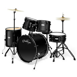 5-Piece Complete Full Size Pro Adult Drum Set Kit with Genuine Remo Heads $329.99