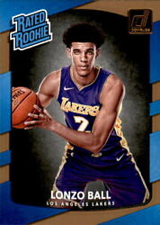 LONZO BALL 2017 18 Donruss Basketball Rookie Card RC #199 Grade: Mint
