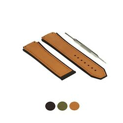 20x27mm Leather Watch Strap Band Fits For Hublot Big Bang Matte Calf W Tool