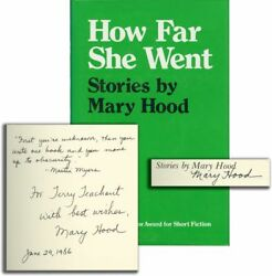 Mary Hood HOW FAR SHE WENT Signed First Edition 1984 Literature #134479