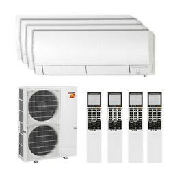 Mitsubishi Wall Mounted 4-Zone H2i System - 42000 BTU Outdoor - 9k + 12k + 1...