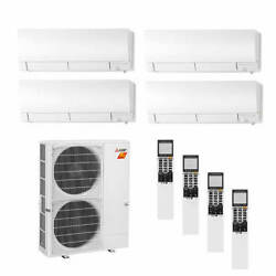 Mitsubishi Wall Mounted 4-Zone H2i System - 42000 BTU Outdoor - 9k + 9k + 12...