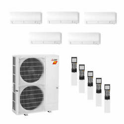 Mitsubishi Wall Mounted 5-Zone H2i System - 42000 BTU Outdoor - 6k + 6k + 6k...