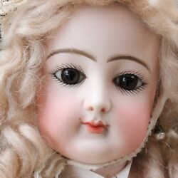 Antique Jumeau Portrait Fashion Doll c1878 Closed Mouth w Silk Dress 24.4