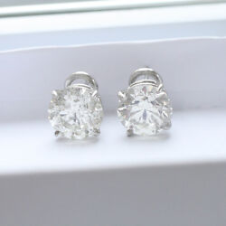 10.61 ct GIA J VS1 round ideal cut diamond stud earrings platinum eurowire backs