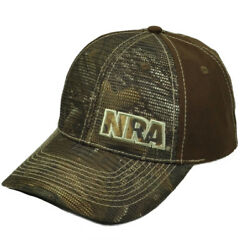 National Riffle Association NRA RealTree Brown Hat Cap Adjustable Gun Mesh Panel $12.95