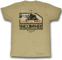 MASH TV Show 4077th Incoming Helicopter Adult T Shirt $20.70