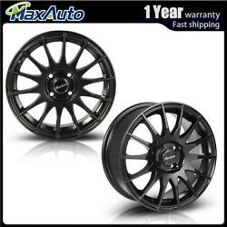 2 Pcs 15x6.5 4x100 Matt Black Wheels Rims For 4 Lug Civic CRX XA XB Integra