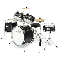 5-Piece Junior Drum Set with Brass Cymbals - Children Kid Starter Kit $178.99