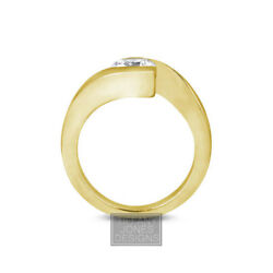 2.04ct H-SI3 Exc Round AGI Natural Diamond 18k Twist Band Solitaire Ring 13.39gr