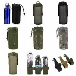 Molle Military Water Bottle Bag Kettle Pouch Holder Belt Outdoor Hiking Nylon