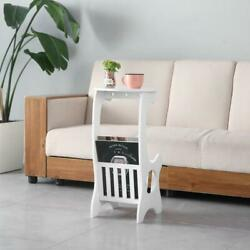 White Small Round End Side Accent Coffee Table Bedroom Living Room NEW $18.99