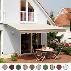 Patio Awning Canopy Retractable Deck Door Outdoor Sun Shade Shelter $219.99