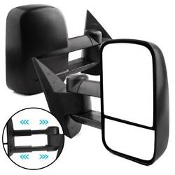 Tow Mirrors Pair for 07-13 Chevy Silverado GMC Sierra NNBS Power Heated