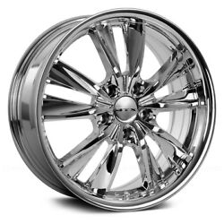 RTX TWIST Wheels 17x7 (40 5x114.3 73.1) Chrome Rims Set of 4