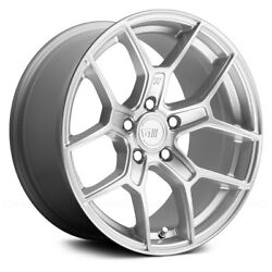 Motegi Racing MR133 Wheels 18x8.5 (15 5x114.3 72.6) Silver Rims Set of 4