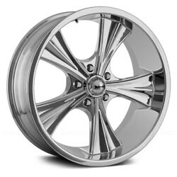 Ridler 651 Wheels 18x9.5 (0 5x114.3 83.82) Chrome Rims Set of 4