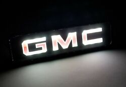 GMC LED Logo Light Car For Front Grille Badge Illuminated Decal Sticker