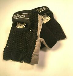 SixSixOne Fingerless Bike Bicycle Cycling Racing Gloves X Small Knit Leather $12.96