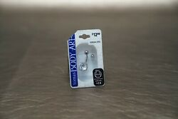 14G Cubic Zirconia Solitaire Belly Ring NEW!! by Thomas Body Art
