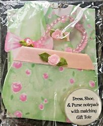 Note Pad Gift Set 3 Notepads Shaped like a purse shoe amp; Dress amp; a gift bag to $5.99