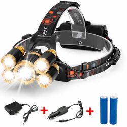 80000LM 5 LED Zoom LED Rechargeable Headlamp Head Light Torch Charger US $13.95