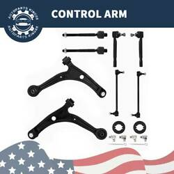 Front Lower Control Arm Tie Rod Kit For 2001 2002 2003 2004 2005 2006 Acura MDX