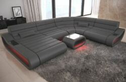 Luxury Sectional Sofa Concept XL Design Couch Big LED lights Ottoman