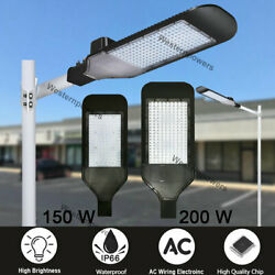 150W 200W Shoebox Street Outdoor Parking Pole Light Commercial Security