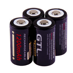 1-4pcs 3V 16340 Flashlight 85177 CR123A High Power Lithium Rechargeable Battery