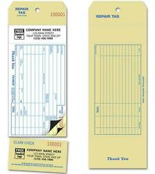 Invoice Repair Tags Service Detachable 2 Part Claim Check Nebs Deluxe # R2539