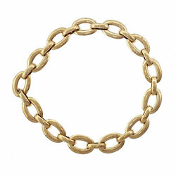 18k Yellow Gold Large Oval Link Necklace