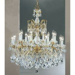 Classic Madrid Imperial 18 Lt Chandelier Old Bronze Elements - 5548OWBS