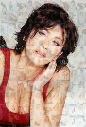 SABRINA SALERNO photo mosaic cm. 30x41 poster with a lot of sexy pics