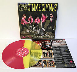 ME FIRST and The GIMME GIMMES rake it in YELLOW  RED VINYL Lp Record w insert
