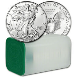 Random Date American Silver Eagle 1 oz $1 - 1 Roll of 20 BU Coins in Mint Tube $754.53