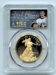 2019 W $50 Gold Proof Eagle 1 oz PCGS PR70DCAM First Strike Fred Haise