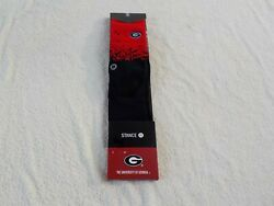 NWT Stance socks men#x27;s L 9 12 black amp; red; white UGA Georgia cotton blend $9.99