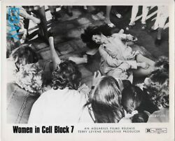 Female prisoners fight in sexy cat fight on floor VINTAGE Photo $44.00
