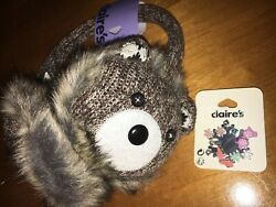 Claire's Teddy Bear Plush Ear Muff Jewelry Earring Lot Christmas Ice Skating Nwt