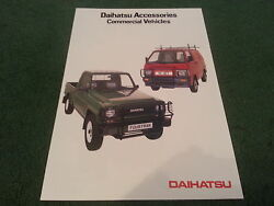 1986 1987 DAIHATSU FOURTRAK HI JET COMMERCIAL ACCESSORIES UK COLOUR BROCHURE
