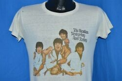 vintage 60s BEATLES BUTCHER COVER ORIGINAL PROMO WHITE ROCK t-shirt SMALL S