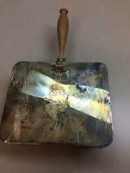 Vintage Apollo Silver Plated Crumber Silent Butler Horse and Crown Engraving