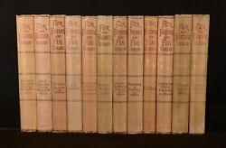 1893-1906 12vol Fur and Feather and Fin Series Illustrated