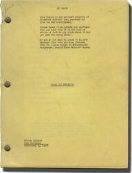 David Butler ROAD TO MOROCCO Original screenplay for the 1942 film #128826