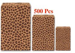 500Pc Gift Bags Wholesale Kraft Paper Bags Leopard Print Jewelry Flat Gift Bags $27.08