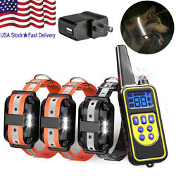 Waterproof Dog Training Electric Collar Rechargeable Remote Control For 3 Dogs $49.99