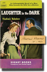 Vladimir Nabokov LAUGHTER IN THE DARK First Edition in paperback signed #143855