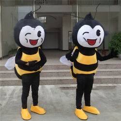 Honeybee Cosplay Suit Outfit Parade Bee Mascot Costume Dress Animal Unisex Party